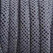 Grijs Imitatie Leer grijs zwart snake 6x4mm - prijs per 20cm