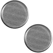 Grijs Cabochon plat polaris Shiny Silver black 12mm