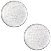 Grijs Cabochon plat polaris Shiny Silver grey 12mm