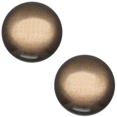 Bruin Cabochon polaris Shiny Dark brown 12mm