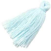 Blauw Kwastje medium Pastel blue 30mm