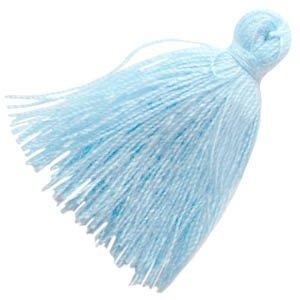 Blauw Kwastje medium Aquamarine blue 30mm
