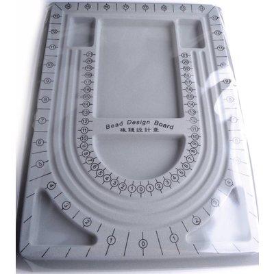 Grijs Kralenbord middel 33x24cm