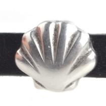 Zilver Leerschuiver Ø5x2mm schelp Zilver DQ
