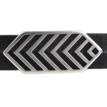 Zilver Leerschuiver Ø10x2mm geometrische veer Zilver DQ 27x12mm