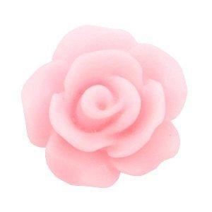 Roze Bloem Roosje kralen mat Pink rose 10mm