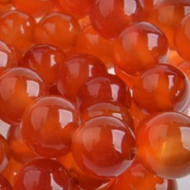 Rood Halfedelsteen agaat rond natural oranje rood 8mm