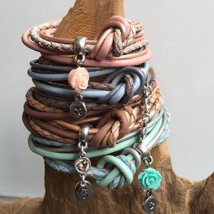 DIY Driedubbele armband leer