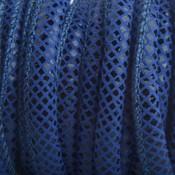 Blauw Imitatie Leer blauw reptiel 6x4mm - prijs per 20cm