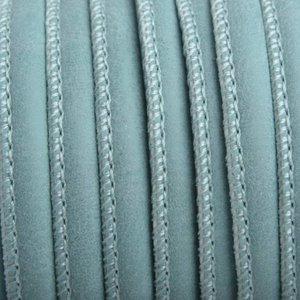 Turquoise Imitatie Leer soft turquoise 6x4mm - prijs per 20cm