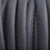 Grijs Imitatie Leer dark grey 6x4mm - prijs per 20cm