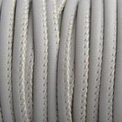 Grijs Imitatie Leer beige grijs 4x3mm - prijs per 20cm