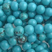 Turquoise Halfedelsteen Sinkiang Turquoise rond turquoise 8mm