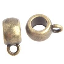 Antiek Goud Brons Kraal met oog Ø4,5mm Brons 11x5.5mm - 3 stuks