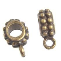 Antiek Goud Brons Kraal met oog Ø4mm Brons 13x5mm - 3 stuks