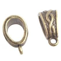 Antiek Goud Brons Kraal met oog Ø6x4mm Brons 14x7mm - 3 stuks