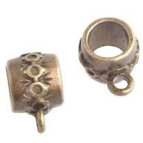 Antiek Goud Brons Kraal met oog Ø8mm Brons 15x10mm