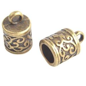Antiek Goud Brons Eindkap Ø6mm Brons 13x8.5mm - 2 stuks