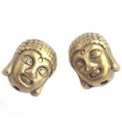 Antiek Goud Brons Metaal kraal buddha Brons 11x9mm