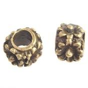 Antiek Goud Brons Metaal kraal bloemen Ø4.5mm Brons 11x7mm