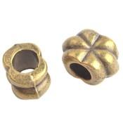 Antiek Goud Brons Metaal kraal bloem Ø5mm Brons 12x8mm