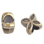 Antiek Goud Brons Metaal kraal bloem Ø5.5mm Brons 10x10mm