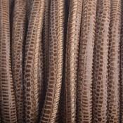 Bruin Stitched nappa leer PQ cognac snake 4mm - prijs per cm