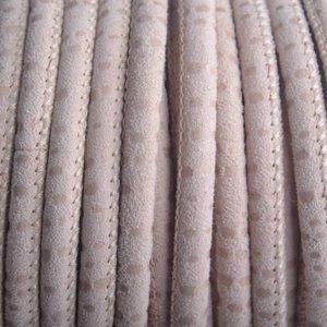 Bruin Stitched nappa leer PQ Nude Beige 4mm - prijs per cm