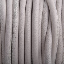 Grijs Stitched nappa leer Nude Grey PQ 4mm - prijs per cm