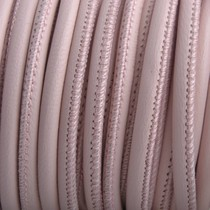 Roze Stitched nappa leer PQ Licht Roze 4mm - prijs per cm