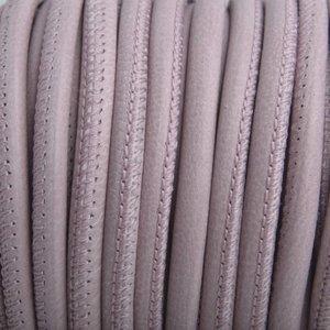 Paars Stitched nappa leer PQ Lila Taupe Grijs 4mm - prijs per cm