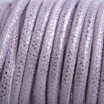 Paars Stitched nappa leer PQ Lila Metallic 4mm - prijs per cm