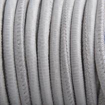 Wit Stitched nappa leer PQ Grijs Wit snake 4mm - prijs per cm
