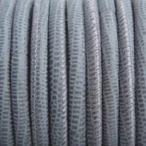 Groen Stitched nappa leer PQ Grijs Groen snake 4mm - prijs per cm