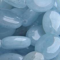 Blauw Aquamarine plat ovaal 18X13mm