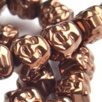 Bruin Hematiet buddha kraal Copper plated 8mm