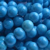 Blauw Turquoise blauw rond 8mm