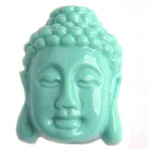 Turquoise Koraal buddha Turquoise 15x11mm