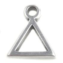 Zilver Bedel geo driehoek Zilver DQ 9x11mm