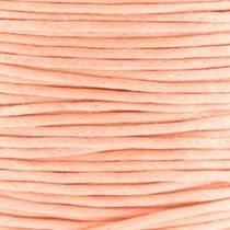 Oranje Waxkoord rond Peach orange Ø1mm -prijs per meter