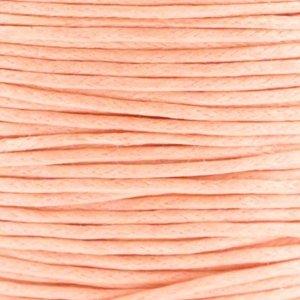 Oranje Waxkoord rond Peach orange Ø1mm - prijs per 10 meter