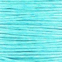 Blauw Waxkoord rond  Aqua blue Ø1mm -prijs per meter