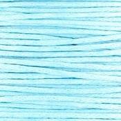 Blauw Waxkoord rond Light blue Ø1mm - prijs per 10 meter