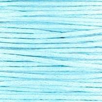 Blauw Waxkoord rond Light blue Ø1mm -prijs per meter