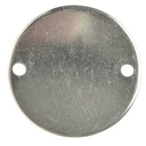 Rvs Blanke bedel tussenzetsel RVS rond 16mm