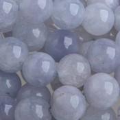 Blauw Half edelsteen Aquamarine rond 10mm