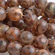 Bruin Half edelsteen Agaat rond bruin 10mm