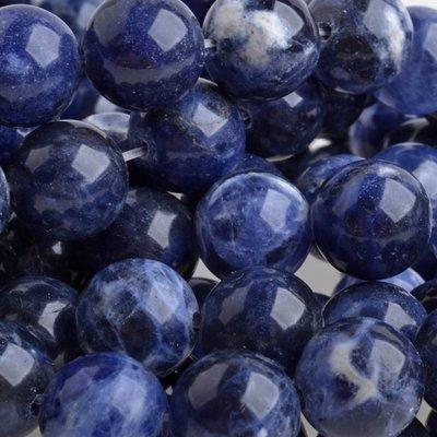 Blauw Half edelsteen Sodaliet rond blauw 10mm
