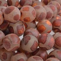 Bruin Half edelsteen Agaat rond mat cognac 10mm