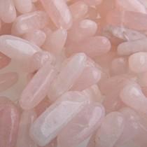 Roze Half-edelsteen Rozen quartz ±18x8mm
